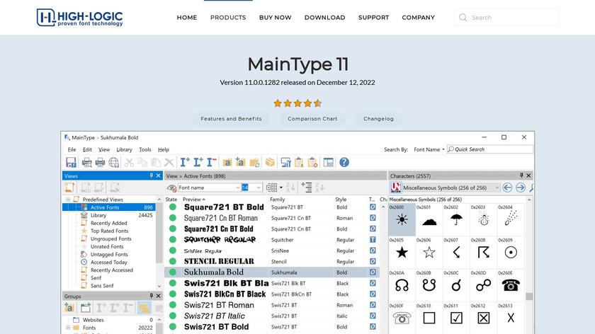 Maintype Landing Page