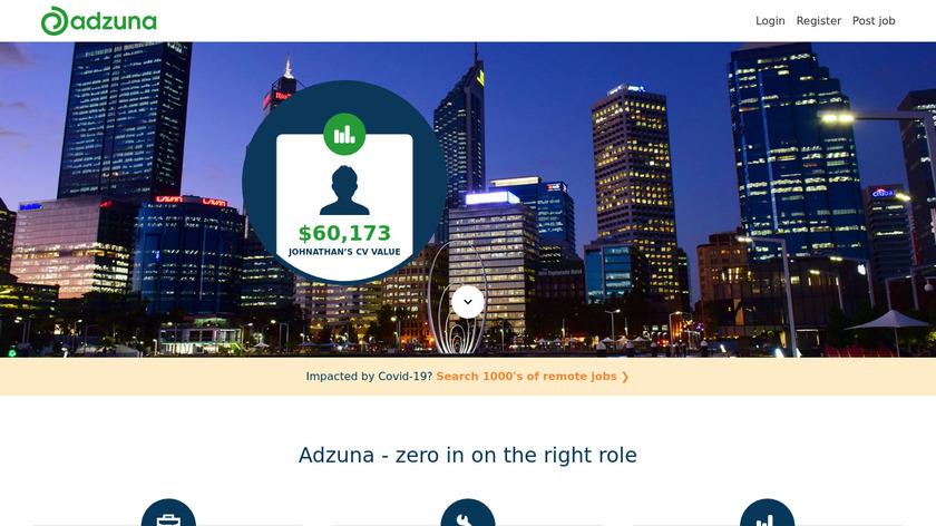 Adzuna Landing Page