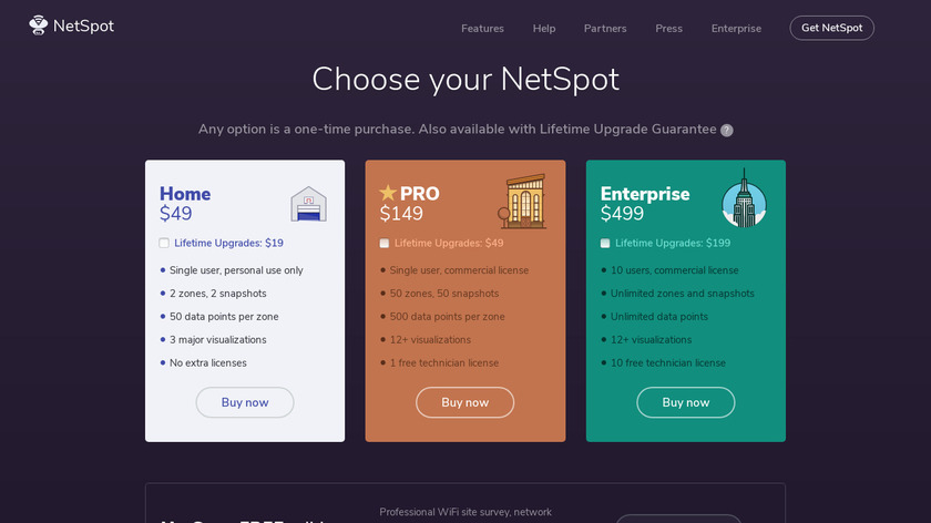 NetSpot Pro Landing Page