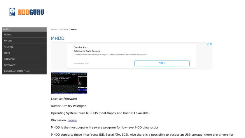 MHDD Landing Page
