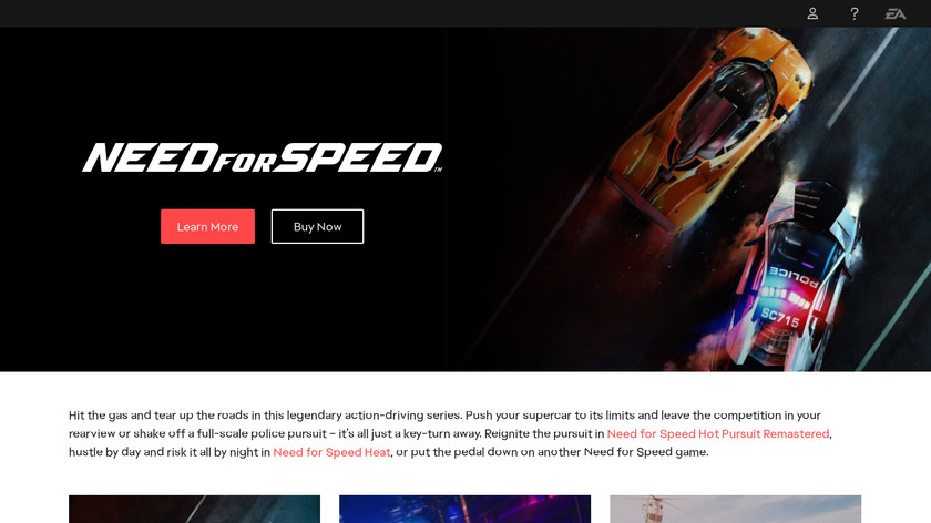 Need for Speed Landing Page