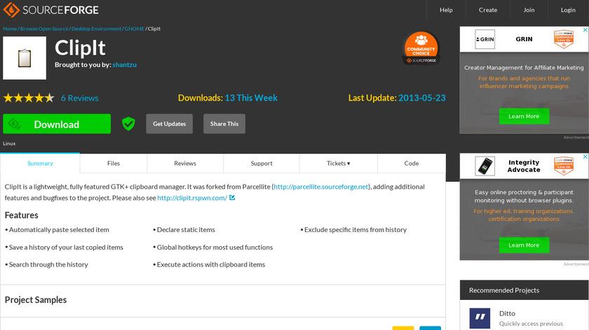 ClipIt Landing Page