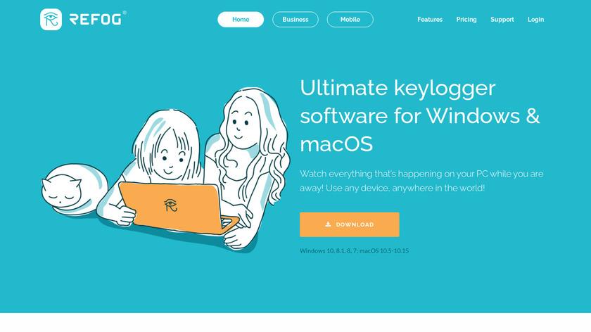 Windows Keylogger Landing Page