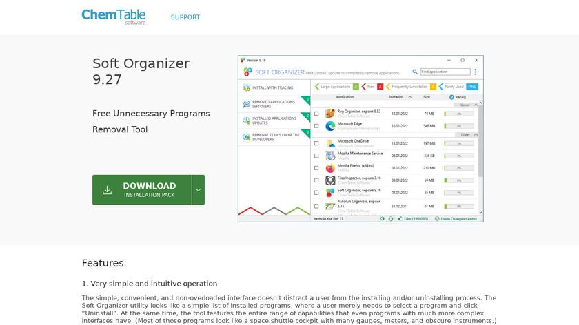 Soft Organizer Landing Page