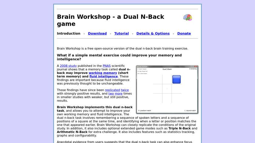 Brain Workshop Landing Page