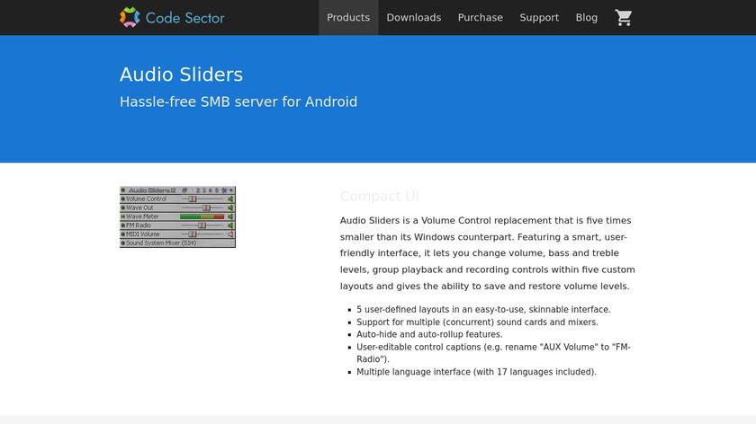 Audio Sliders Landing Page