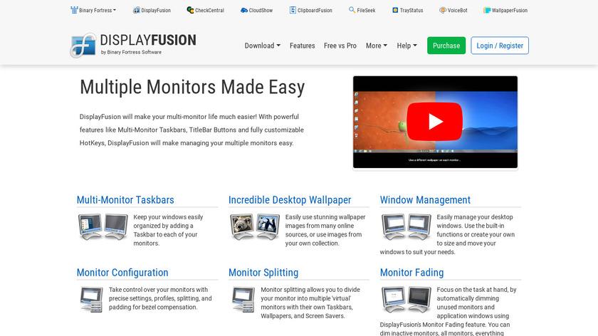 DisplayFusion Landing Page