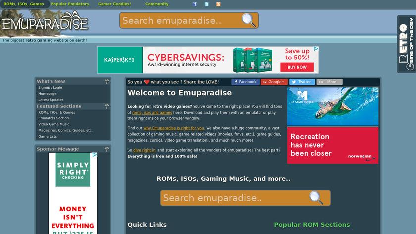 Emuparadise Landing Page