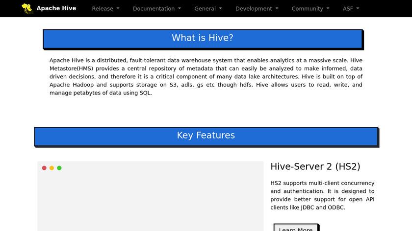 Apache Hive Landing Page