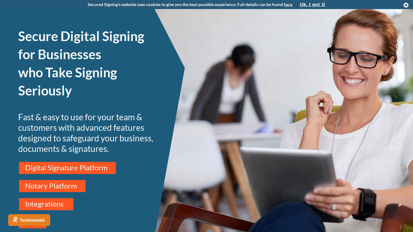 Secured Signing Landing Page
