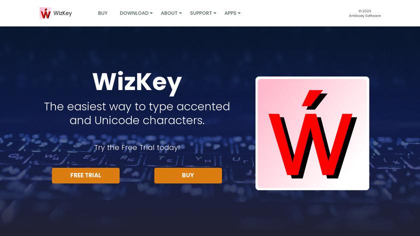 WizKey Landing Page