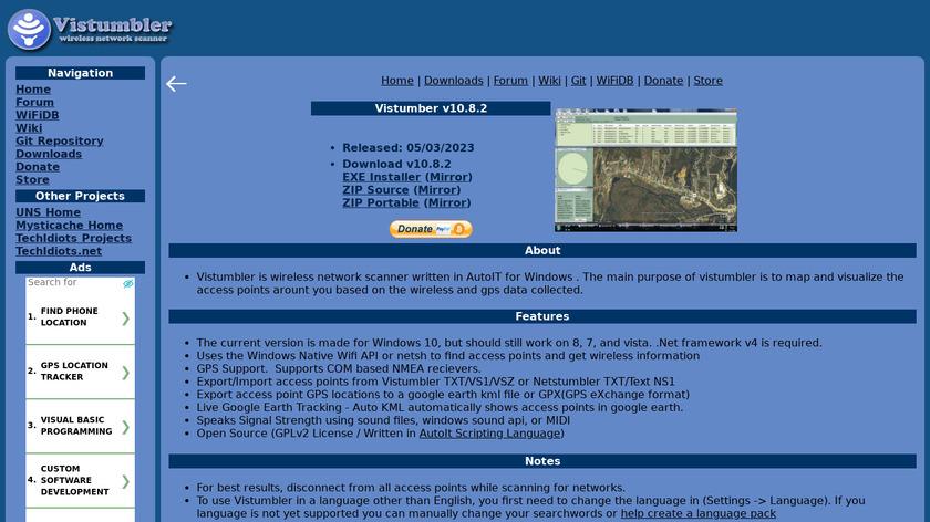 Vistumbler Landing Page