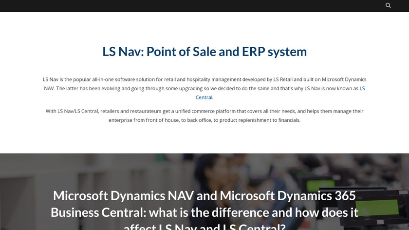 LS Nav Landing Page
