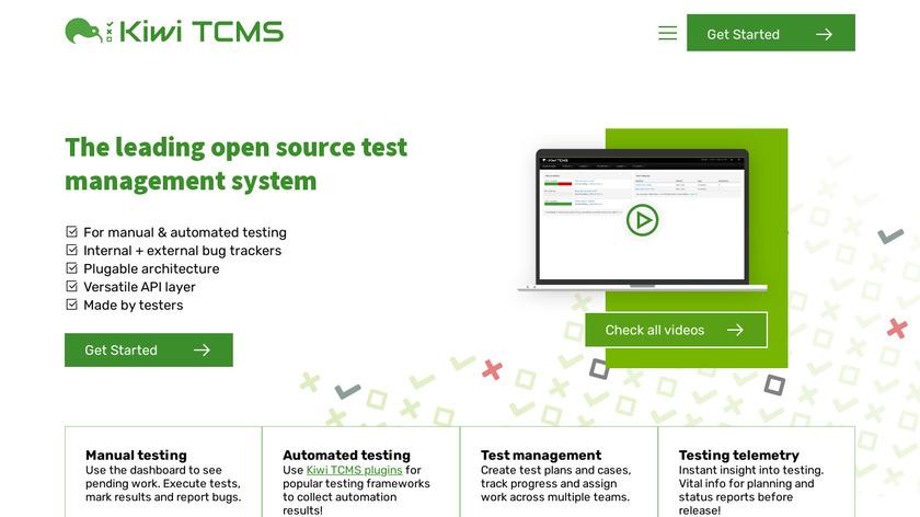 Kiwi TCMS Landing Page