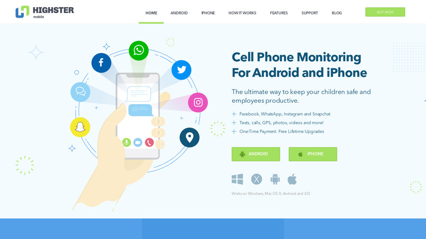 Highster Mobile Landing Page