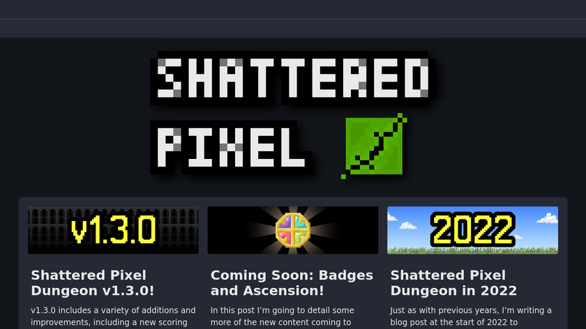 Shattered Pixel Dungeon Landing Page