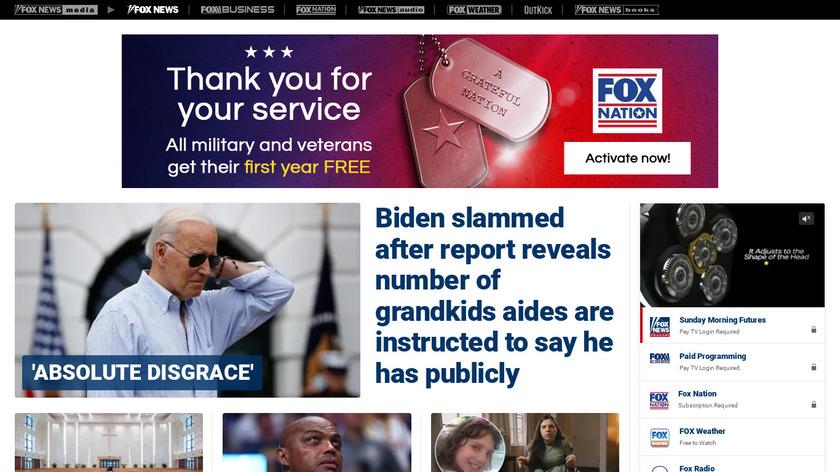 Fox News Landing Page