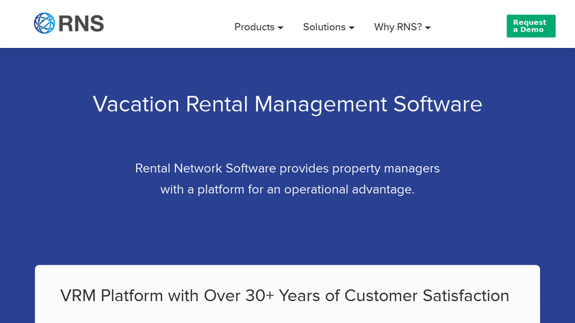 Rental Network Software Landing Page