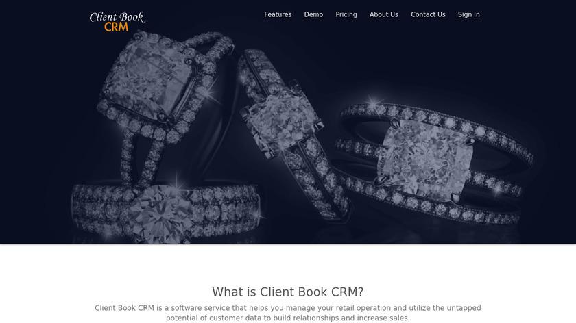Client Book CRM Landing Page