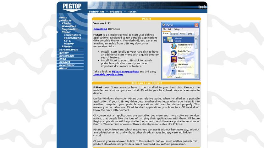PStart Landing Page