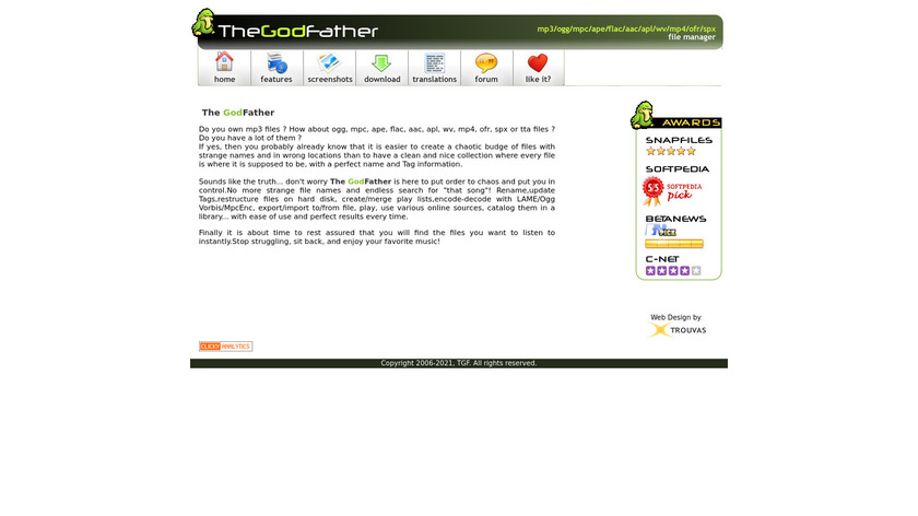 The GodFather Landing Page