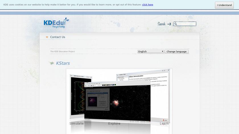 KStars Landing Page