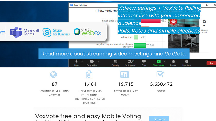 VoxVote Landing Page
