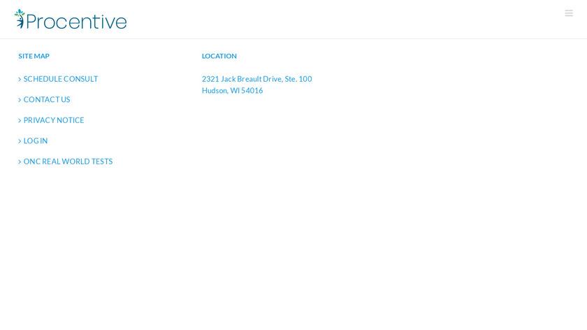 procentive Landing Page