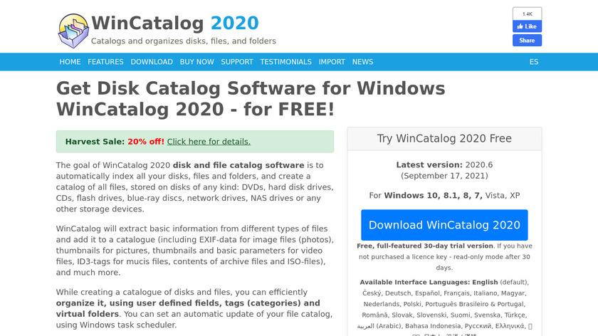 Wincatalog Light Landing Page