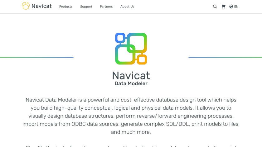 Navicat Data Modeler Landing Page