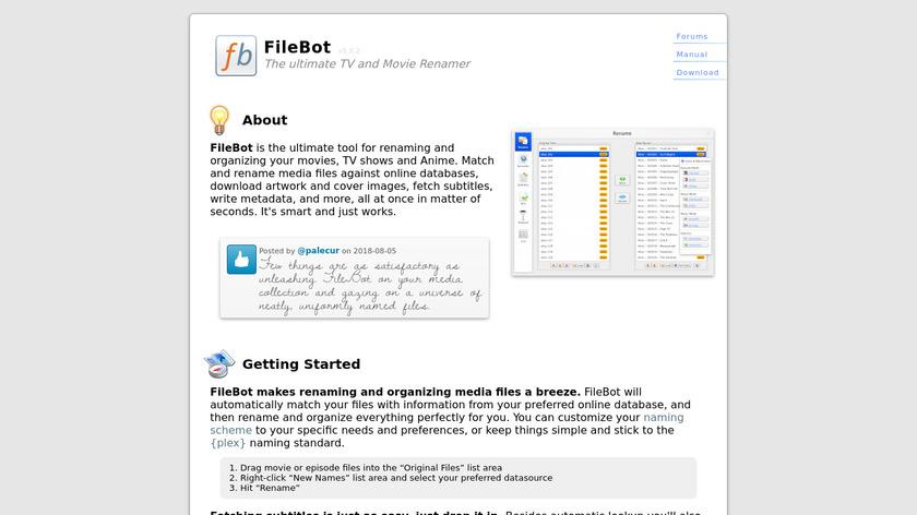 FileBot Landing Page