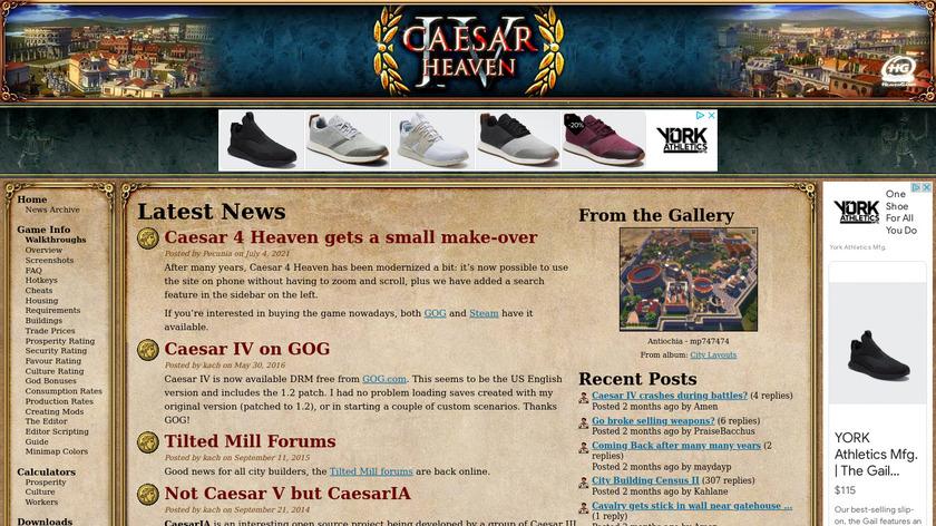 Caesar Landing Page