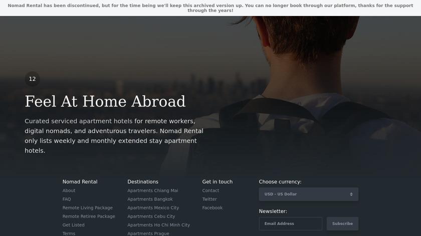 Nomad Rental Landing Page