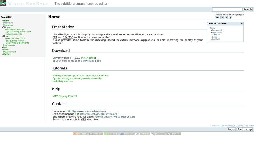VisualSubSync Landing Page