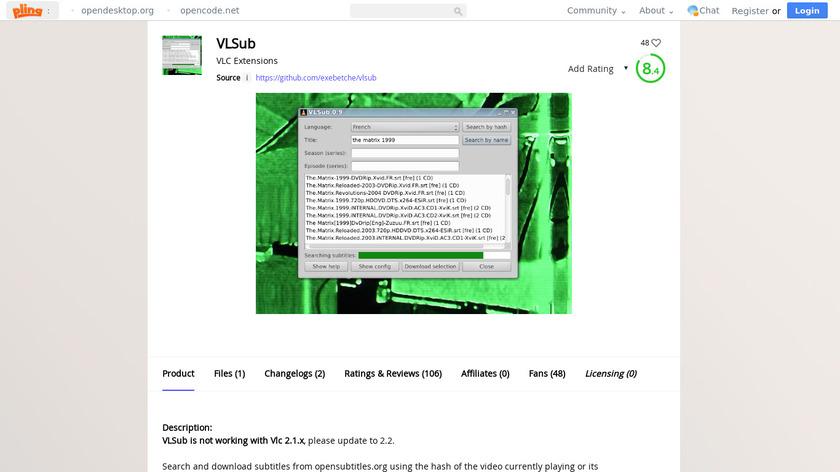 VLSub Landing Page