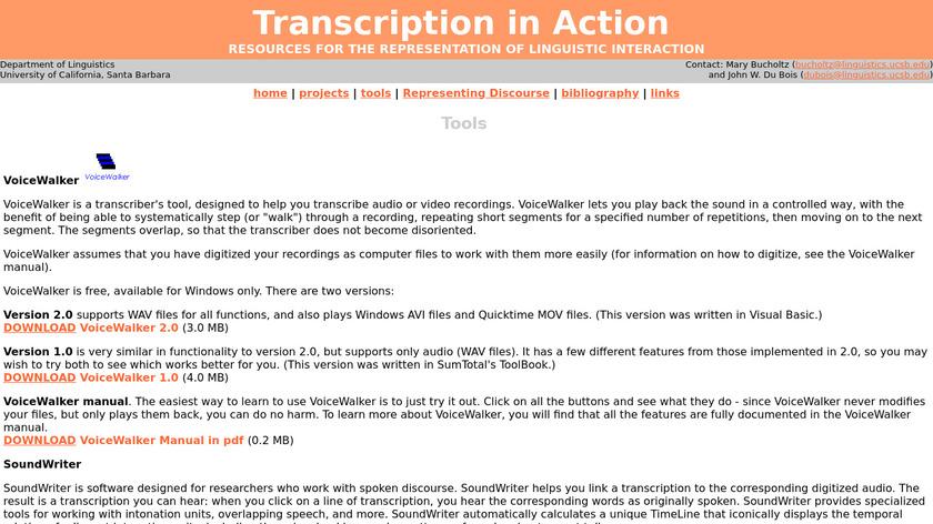 VoiceWalker Landing Page