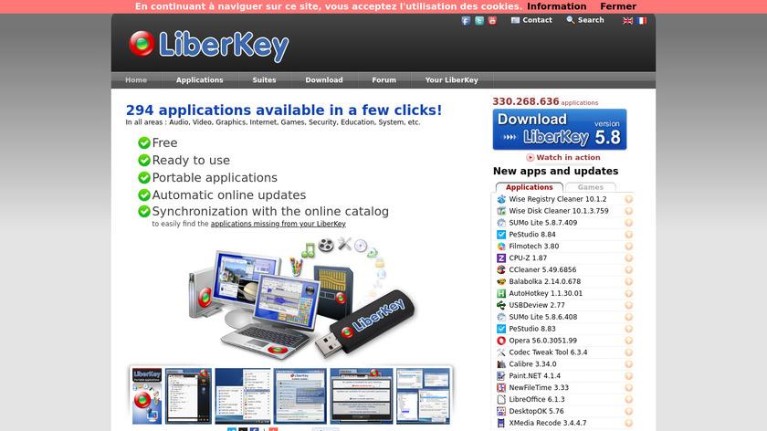 LiberKey Landing Page