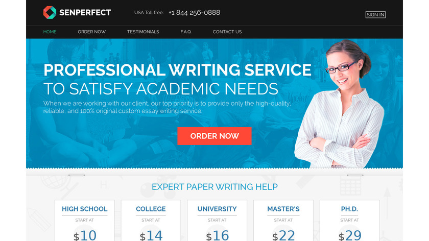 Senperfect.com Landing Page