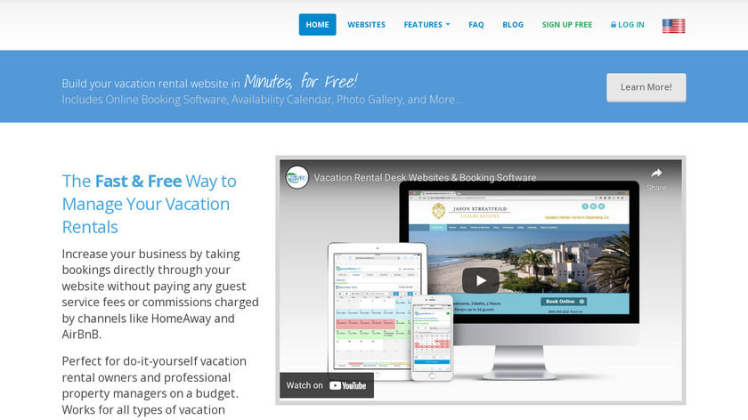 Vacation Rental Desk Landing Page