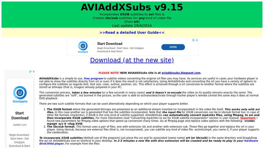 AVIAddXSubs Landing Page