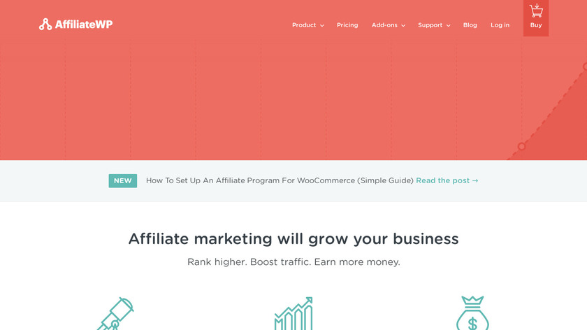 AffiliateWP Landing Page