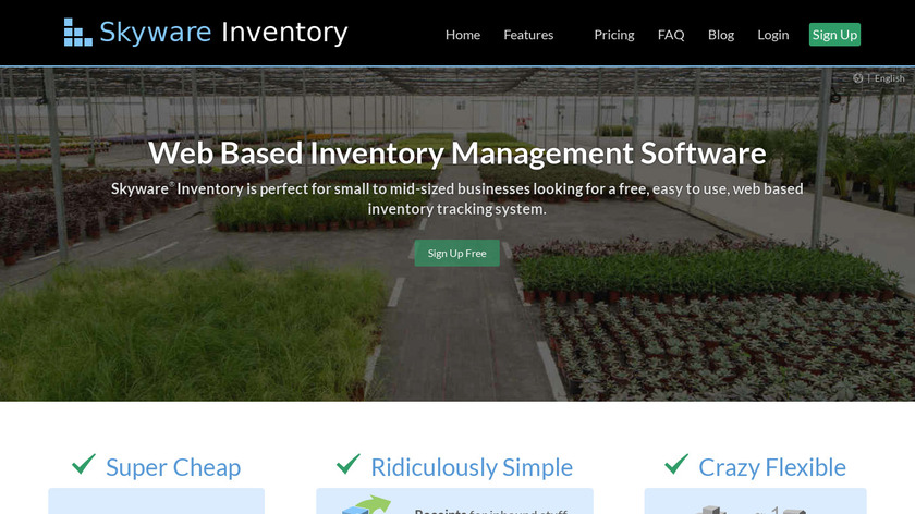Skyware Inventory Landing Page