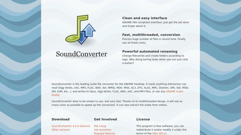 SoundConverter Landing Page