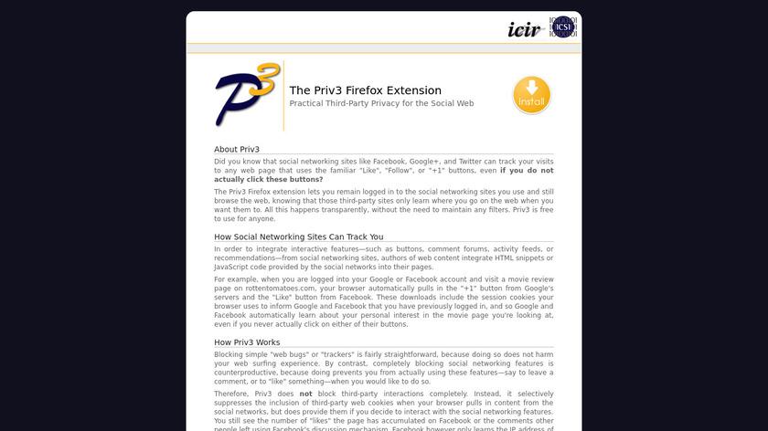 Priv3 Landing Page