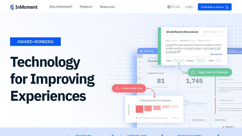 MaritzCX Landing Page