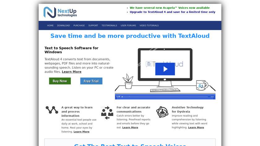 TextAloud Landing Page