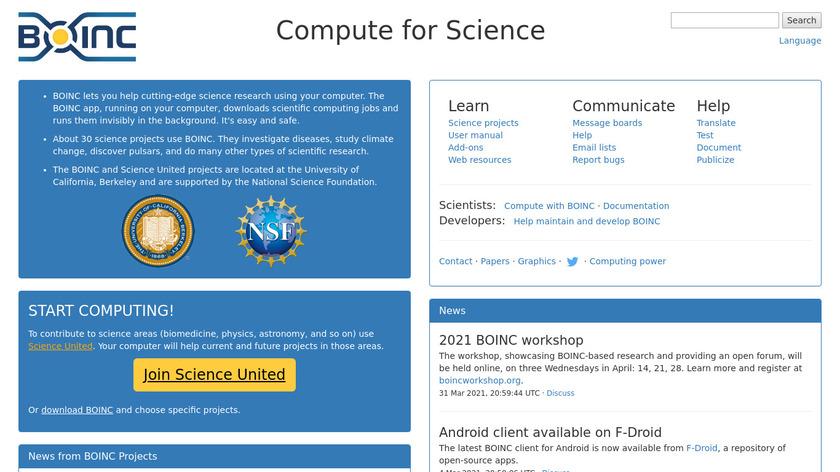 BOINC Landing Page