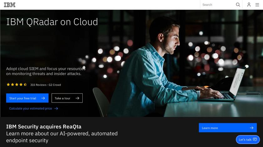 IBM QRadar Landing Page
