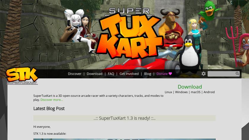SuperTuxKart Landing Page