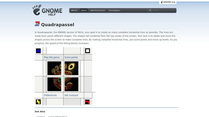 Quadrapassel Landing Page